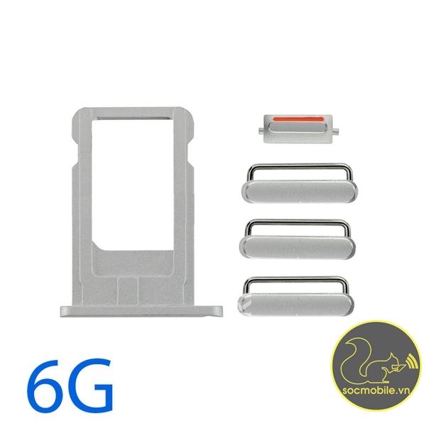 Bộ Phím Bấm - Khay Sim iPhone 6G